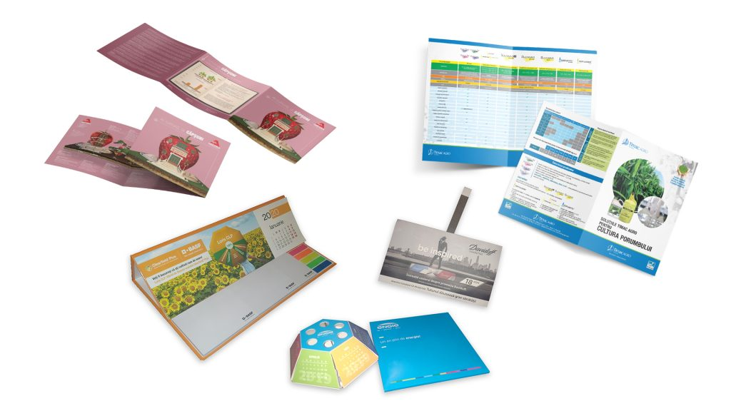 Materiale print in diferite formate