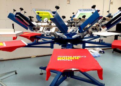 Cum arata un atelier pentru print tricouri